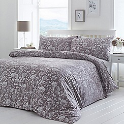 Home Collection - Grey 'Esther' Bedding Set