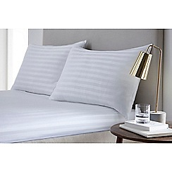J by Jasper Conran - White 'Sateen stripe' fitted sheet set