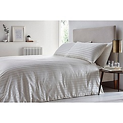 J by Jasper Conran - Ivory 'Sateen stripe' duvet set