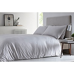 J by Jasper Conran - Silver 'Sateen stripe' duvet set