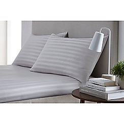 J by Jasper Conran - Silver 'Sateen stripe' fitted sheet set