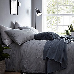 Debenhams - Green 'Inga' textured bedding set