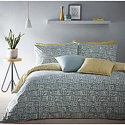 Debenhams - Aqua and Yellow reversible 'Soldermalm' bedding set