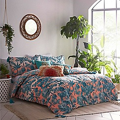 MW by Matthew Williamson - Coral 'Inky Palms' bedding set