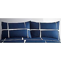J by Jasper Conran - Navy 'Squares' pillowcase pair