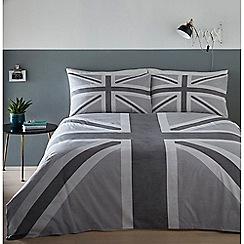 Debenhams - Black and White Union Jack Bedding Set