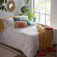 MW by Matthew Williamson - Cream 'Pineapple' embroidered bedding set