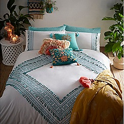 MW by Matthew Williamson - Aqua 'Deja' embroidered bedding set