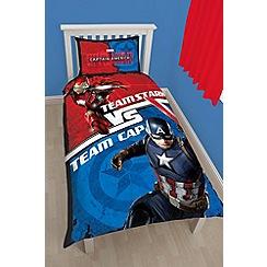Marvel - Kids' Multicoloured 'Captain America Civil War' single bedding set