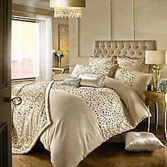 Kylie Minogue at home - Gold 200 thread count 'Eva' sequin duvet cover
