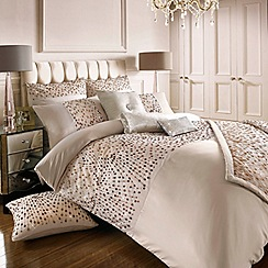 Kylie Minogue at home - Rose gold 200 thread count 'Eva' sequin duvet cover
