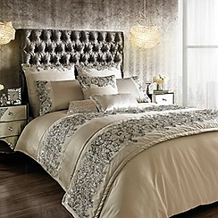 Kylie Minogue at home - Silver 200 thread count 'Petra' sequin duvet cover