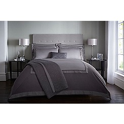 J by Jasper Conran - Dark grey 240 thread count 'Langham' duvet cover