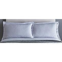 J by Jasper Conran - Grey 200 thread count 'Greenwich' pillow case pair