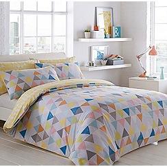 Ben de Lisi Home - White 'Triangles' bedding set