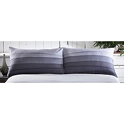 RJR.John Rocha - Blue printed 'Tide' pillowcases