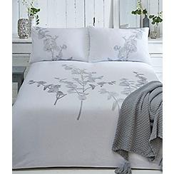 RJR.John Rocha - White 'Flora Embroidery' duvet cover