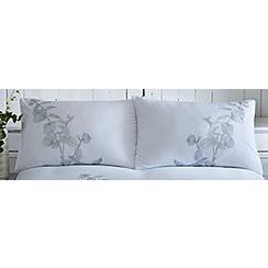 RJR.John Rocha - White 'Flora Embroidery' pair of standard pillowcases
