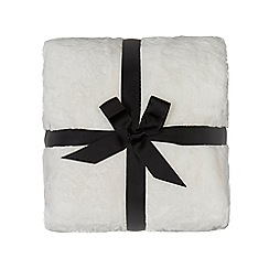 Home Collection - Cream faux fur throw