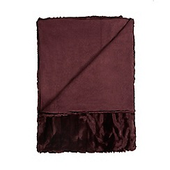 J by Jasper Conran - Plum carved faux fur throw