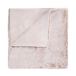 Star by Julien Macdonald - Pink faux fur throw