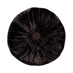 Star by Julien Macdonald - Dark purple round velvet cushion