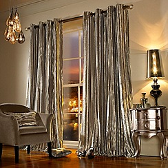 Kylie Minogue at home - Iliana praline curtains