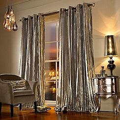 Kylie Minogue at home - Iliana praline curtains
