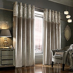 Kylie Minogue at home - Silver Esta curtains