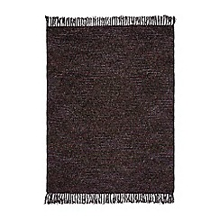 Karl Lagerfeld - 'Boucle' throw damson