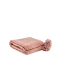 Home Collection - Pink velvet throw