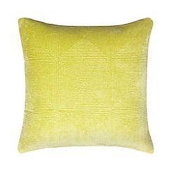J by Jasper Conran - Green textured velvet cushion