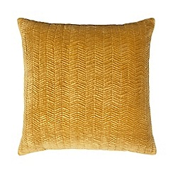 J by Jasper Conran - Yellow chevron velvet cushion