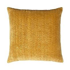 J by Jasper Conran - Yellow chevron velvet cushion