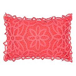 RJR.John Rocha - Raspberry crochet cushion