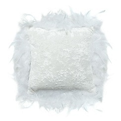Star by Julien Macdonald - White feather trim cushion