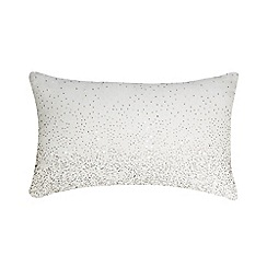 Star by Julien Macdonald - White ombre-effect beaded cushion