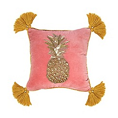Butterfly Home by Matthew Williamson - Pink pineapple embellished cushion