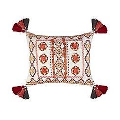 MW by Matthew Williamson - Multi-coloured crewel cushion