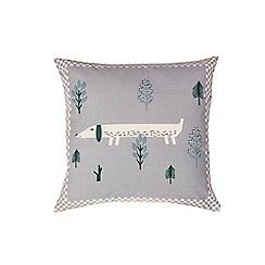 Donna Wilson - Grey 'Sausage dog' cushion
