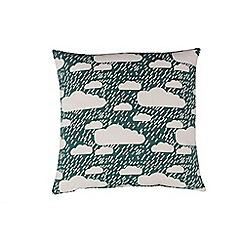 Donna Wilson - Dark Green 'Rainy  day' cushion