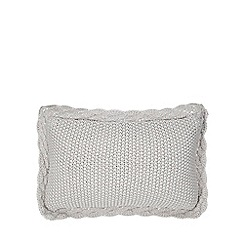 Home Collection - Grey crochet cushion