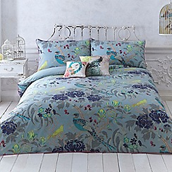 MW by Matthew Williamson - Turquoise 'Magnolia Peacock' bedding set