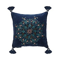 MW by Matthew Williamson - Dark Turquoise Bead Embellished Cushion