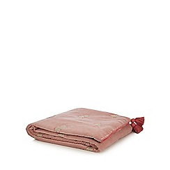 MW by Matthew Williamson - Pink Velvet Embroidered Pineapple Throw