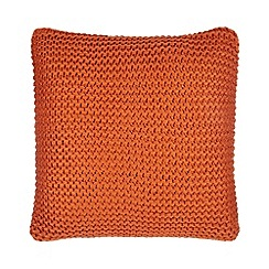 Home Collection - Orange knit cushion