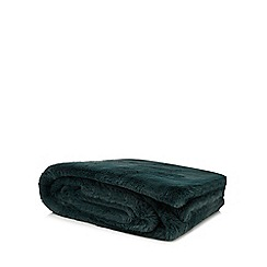 RJR.John Rocha - Green faux fur throw