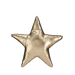 Debenhams - Gold star cushion