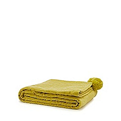 MW by Matthew Williamson - Lime textured throw
