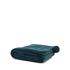 MW by Matthew Williamson - Turquoise textured throw